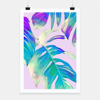 Thumbnail image of Monstera Leaves Poster, Live Heroes
