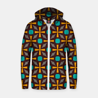 Bright naughts and crosses Zip up hoodie thumbnail image