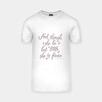 Little but fierce white T-shirt Bild der Miniatur