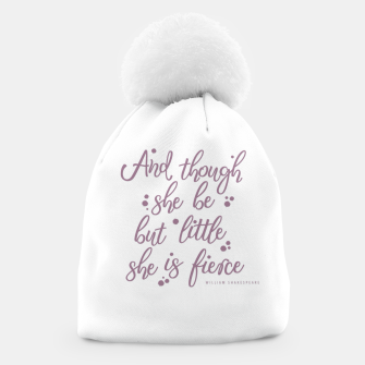 Little but fierce white Beanie Bild der Miniatur