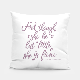 Little but fierce white Pillow Bild der Miniatur