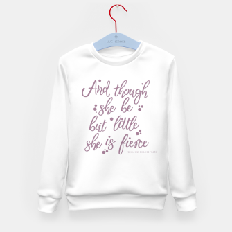 Little but fierce white Kid's sweater Bild der Miniatur