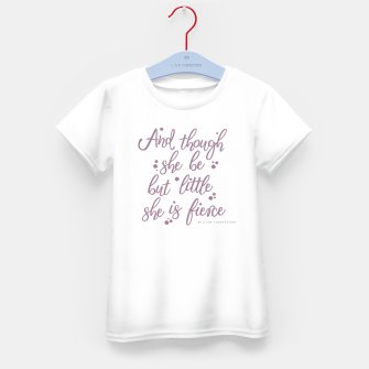 Little but fierce white Kid's t-shirt Bild der Miniatur