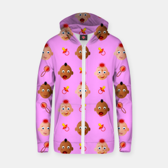 Thumbnail image of Beautiful dirty babies on pink Sudadera con capucha y cremallera , Live Heroes