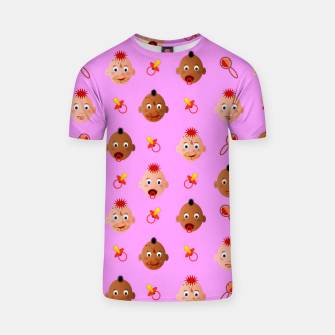 Thumbnail image of Beautiful dirty babies on pink Camiseta, Live Heroes