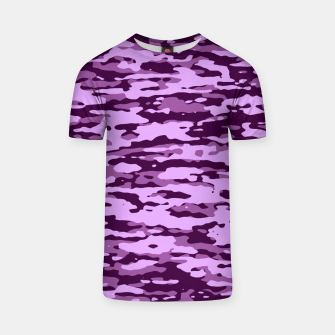Thumbnail image of Purple Camouflage Pattern T-Shirt, Live Heroes