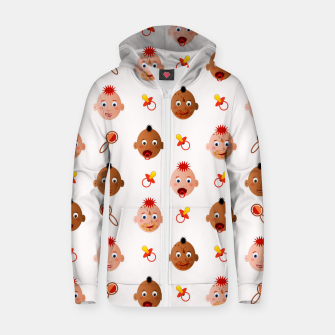 Thumbnail image of Beautiful dirty babies on white Sudadera con capucha y cremallera , Live Heroes