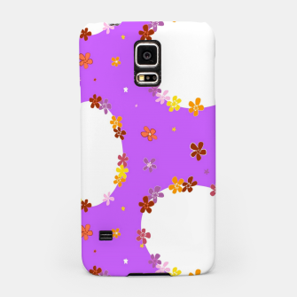 Thumbnail image of Vintage white flowers chain on purple Carcasa por Samsung, Live Heroes