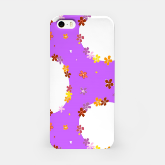 Thumbnail image of Vintage white flowers chain on purple Carcasa por Iphone, Live Heroes