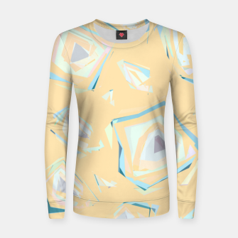 Thumbnail image of Deformed cosmic objects, floating in the empty space, geometric shapes Women sweater, Live Heroes