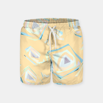 Thumbnail image of Deformed cosmic objects, floating in the empty space, geometric shapes Swim Shorts, Live Heroes