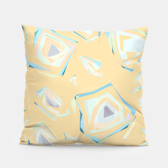 Thumbnail image of Deformed cosmic objects, floating in the empty space, geometric shapes Pillow, Live Heroes