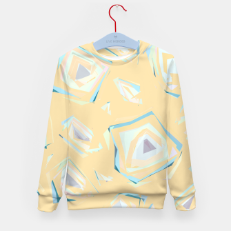 Thumbnail image of Deformed cosmic objects, floating in the empty space, geometric shapes Kid's sweater, Live Heroes