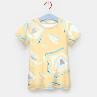 Thumbnail image of Deformed cosmic objects, floating in the empty space, geometric shapes Kid's t-shirt, Live Heroes