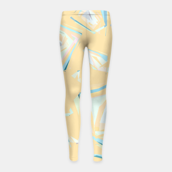 Thumbnail image of Deformed cosmic objects, floating in the empty space, geometric shapes Girl's leggings, Live Heroes