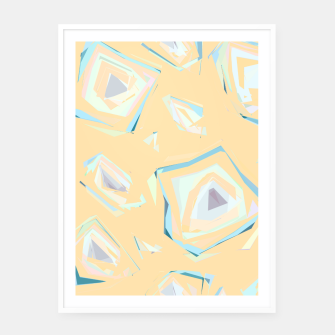 Thumbnail image of Deformed cosmic objects, floating in the empty space, geometric shapes Framed poster, Live Heroes