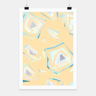 Thumbnail image of Deformed cosmic objects, floating in the empty space, geometric shapes Poster, Live Heroes