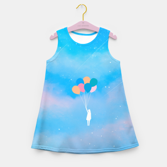 Thumbnail image of Balloons Girl's summer dress, Live Heroes