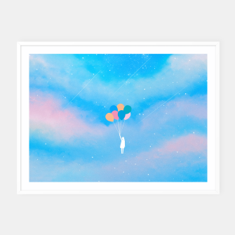 Thumbnail image of Balloons Framed poster, Live Heroes