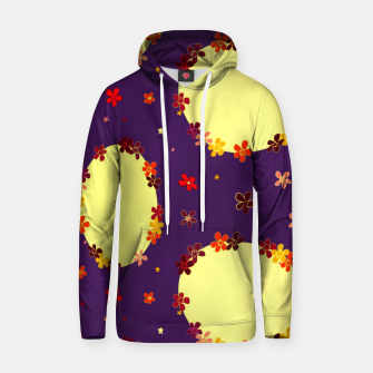Thumbnail image of Vintage yellow flowers chain on purple Sudadera con capucha, Live Heroes