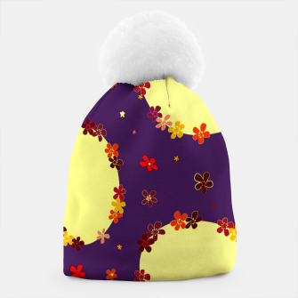 Thumbnail image of Vintage yellow flowers chain on purple Gorro, Live Heroes