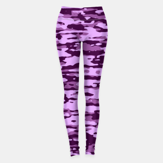 Miniatur Purple Camouflage Pattern Leggings, Live Heroes
