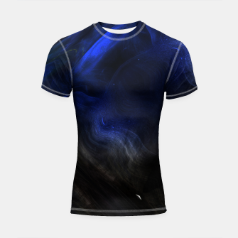 Miniatur Space Cluster Fractal Abstract Shortsleeve rashguard, Live Heroes