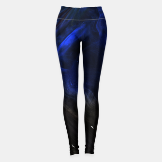 Miniatur Space Cluster Fractal Abstract Leggings, Live Heroes