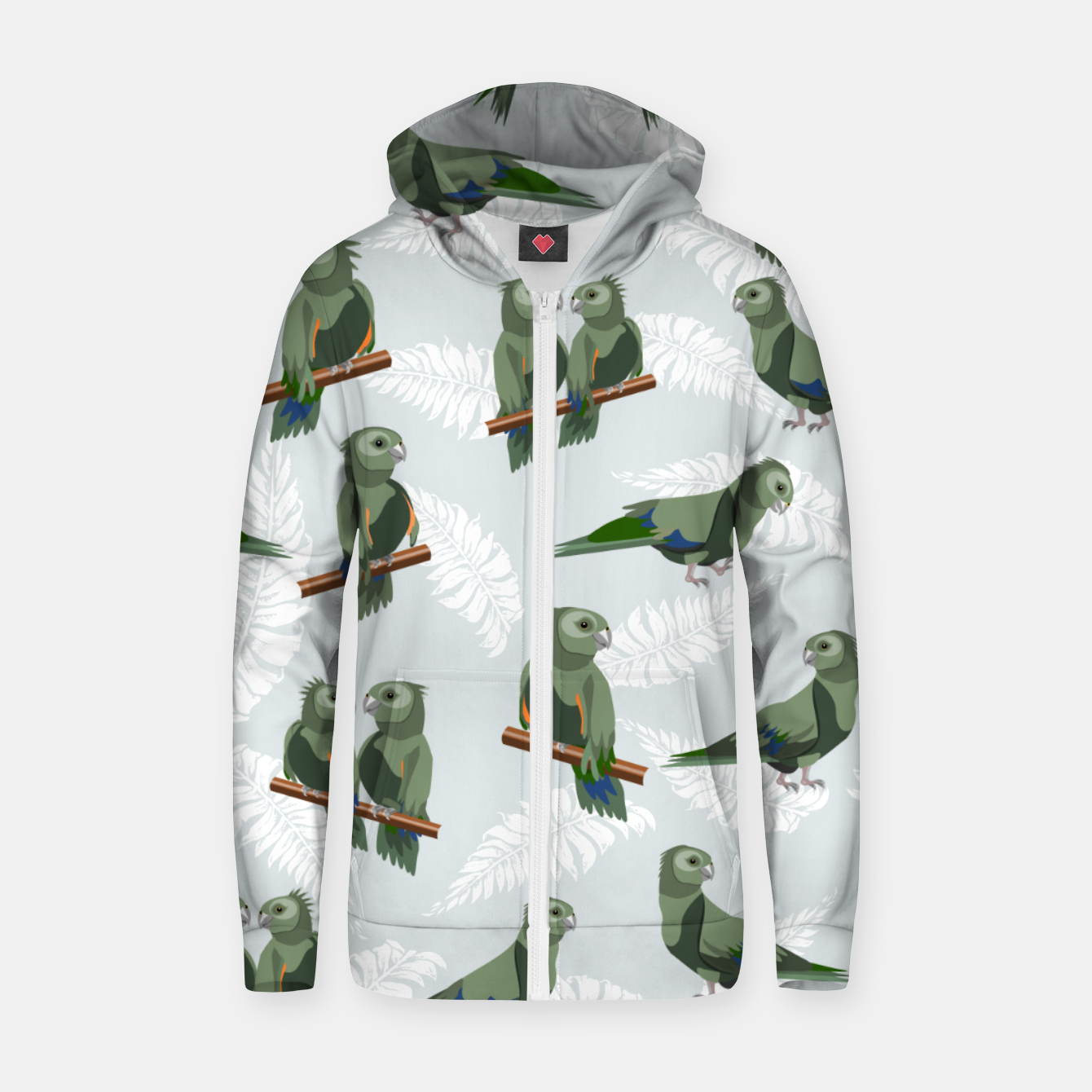Image of Kea New Zealand Bird Zip up hoodie - Live Heroes