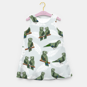 Kea New Zealand Bird Girl's summer dress thumbnail image