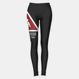 "Thumbnail image of BOYFRIEND NOT FOUND - Funny Design for Single ""Code Girls"" Leggings, Live Heroes"
