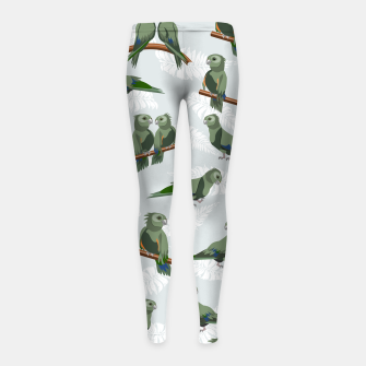 Thumbnail image of Kea New Zealand Bird Girl's leggings, Live Heroes
