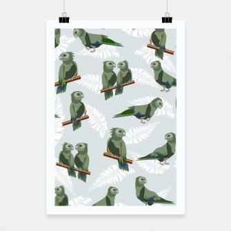 Thumbnail image of Kea New Zealand Bird Poster, Live Heroes