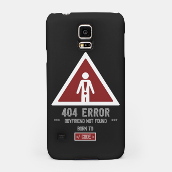 "Thumbnail image of BOYFRIEND NOT FOUND - Funny Design for Single ""Code Girls"" Samsung Case, Live Heroes"
