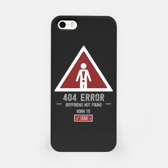 "Thumbnail image of BOYFRIEND NOT FOUND - Funny Design for Single ""Code Girls"" iPhone Case, Live Heroes"