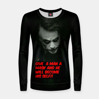 Thumbnail image of Joker Mask Women sweater, Live Heroes