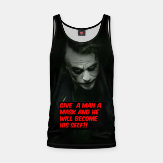 Thumbnail image of Joker Mask Tank Top, Live Heroes