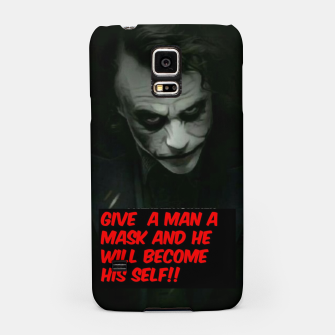 Thumbnail image of Joker Mask Samsung Case, Live Heroes