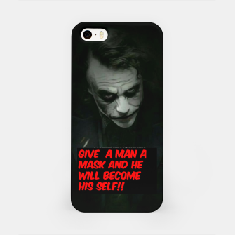 Miniatur Joker Mask iPhone Case, Live Heroes