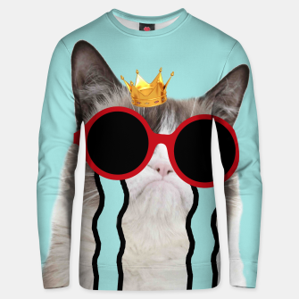 Thumbnail image of Drama Cat Sweater, Live Heroes