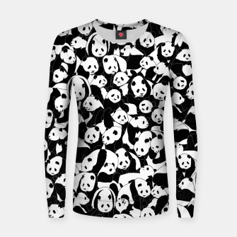 Thumbnail image of Less Hate More Panda Women sweater, Live Heroes
