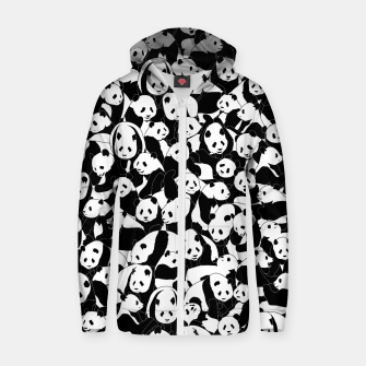 Thumbnail image of Less Hate More Panda Zip up hoodie, Live Heroes