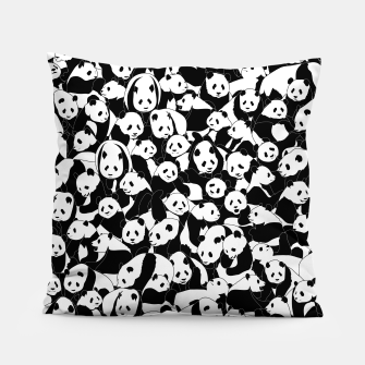 Thumbnail image of Less Hate More Panda Pillow, Live Heroes