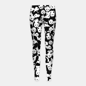 Thumbnail image of Less Hate More Panda Girl's leggings, Live Heroes
