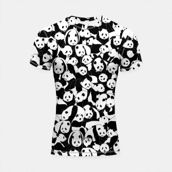 Thumbnail image of Less Hate More Panda Shortsleeve rashguard, Live Heroes