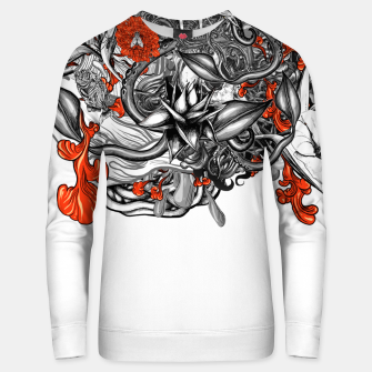 Flower Power White Unisex sweater Bild der Miniatur