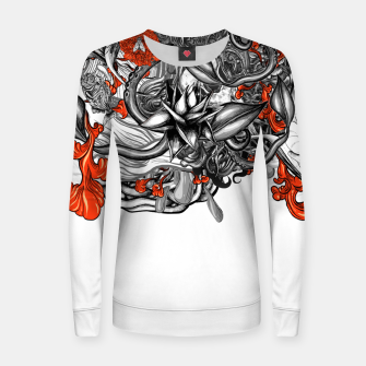 Imagen en miniatura de Flower Power White Women sweater, Live Heroes