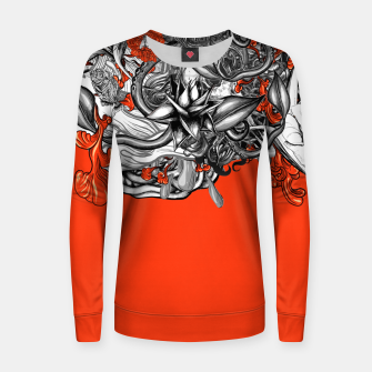 Imagen en miniatura de Flower Power Orange Women sweater, Live Heroes