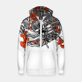 Flower Power White Zip up hoodie Bild der Miniatur