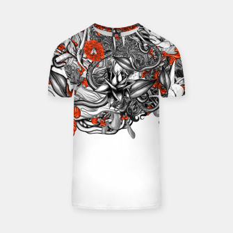 Flower Power White T-shirt Bild der Miniatur